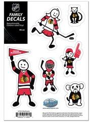 NHL CHICAGO BLACKHAWKS Family Decals Auto Car Vinyl Stickers NEW!