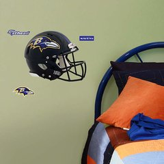 "Baltimore Ravens Helmet Fathead Teammate Logo NFL 12"" X 10"" Football"