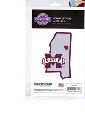 NCAA Mississippi State Bulldogs Home State Repositionable Vinyl Decal Auto Car NEW!!!