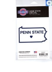 NCAA Penn State Nittany Lions Home State Repositionable Vinyl Decal Auto Car NEW!!!