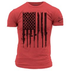 R.E.D. Rifle Flag Grunt Style T-Shirt Remember Everyone Deployed