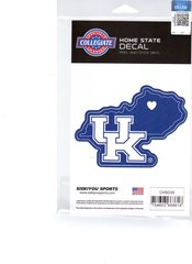 NCAA University of Kentucky Wildcats Home State Repositionable Vinyl Decal Auto Car NEW!!!