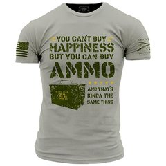 GRUNT STYLE AMMO IS HAPPINESS T-SHIRT AMERICA PATRIOTIC