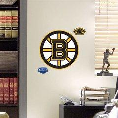 """Boston Bruins Fathead Teammate Logo NHL 11"""" X 11"""" Hockey"""