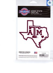 NCAA Texas A&M Aggies Home State Repositionable Vinyl Decal Auto Car NEW!!!