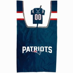 NFL NEW ENGLAND PATRIOTS Shopping Bag in a Pouch Reusable Football