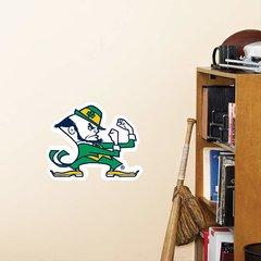 "Notre Dame Fighting Irish Fathead Teammate Logo NCAA 12"" X 10"" Leprechaun"