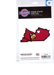 NCAA Louisville Cardinals Home State Repositionable Vinyl Decal Auto Car NEW!!!