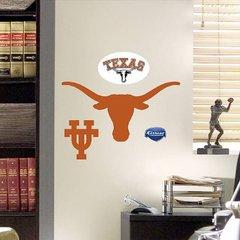 "NCAA TEXAS LONGHORNS FATHEAD TEAMMATE LOGO 16"" X 8"" Football"