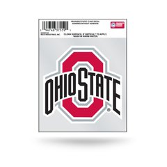 NCAA OHIO STATE BUCKEYES STATIC CLING WINDOW DECAL OFFICIALLY LICENSED