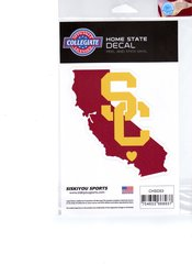 NCAA USC Trojans Home State Repositionable Vinyl Decal Auto Car NEW!!!