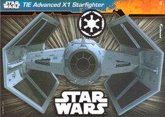 "STAR WARS TIE Advanced X1 Starfighter 3 Decals Fathead Tradeable 5"" x 7"""