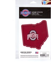 NCAA Ohio State Buckeyes Home State Repositionable Vinyl Decal Auto Car NEW!!!
