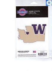 NCAA Washington Huskies Home State Repositionable Vinyl Decal Auto Car NEW!!!