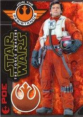 "Star Wars POE The Force Awakens Fathead Tradeable 5"" x 7"""