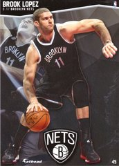 "2016 NBA BROOK LOPEZ BROOKLYN NETS Fathead Tradeable 5"" X 7"""