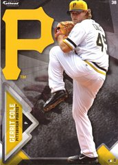 "2016 MLB GERRIT COLE Pittsburgh Pirates Fathead Tradeable 5"" X 7"""
