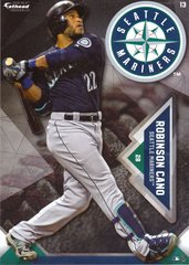 "2016 MLB ROBINSON CANO Seattle Mariners Fathead Tradeable 5"" X 7"""