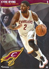 "2016 NBA KYRIE IRVING CLEVELAND CAVALIERS Fathead Tradeable 5"" X 7"""