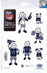 NFL DALLAS COWBOYS Family Decals Auto Car Vinyl Stickers NEW!