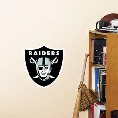 "Oakland Raiders Fathead Teammate Logo NFL 11"" X 12"" Football"