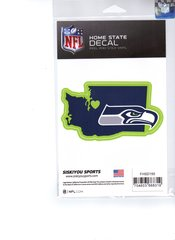 NFL SEATTLE SEAHAWKS Home State Repositionable Vinyl Decal Auto Car NEW!!!