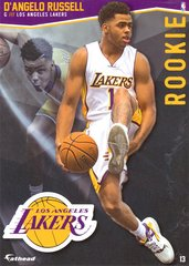 "2016 NBA D'ANGELO RUSSELL LOS ANGELES LAKERS Fathead Tradeable 5"" X 7"""