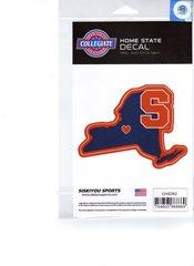 NCAA Syracuse Orangemen Home State Repositionable Vinyl Decal Auto Car NEW!!!