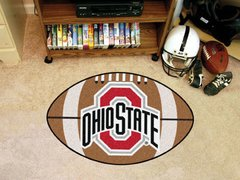 NCAA Ohio State College Sports Logo Football Shaped Area Floor Mat Rug