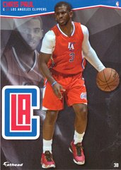 "2016 NBA CHRIS PAUL LOS ANGELES CLIPPERS Fathead Tradeable 5"" X 7"""