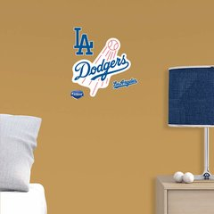 """Los Angeles Dodgers Fathead Teammate MLB Logo 12"""" X 12"""" Officially Licensed baseball"""