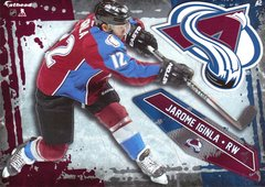 "2016 NHL JAROME IGINLA COLORADO AVALANCHE Fathead Tradeable 5"" X 7"""