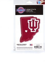 NCAA Indiana Hoosiers Home State Repositionable Vinyl Decal Auto Car NEW!!!