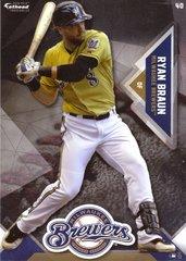 "2016 MLB RYAN BRAUN Milwaukee Brewers Fathead Tradeable 5"" X 7"""