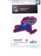 NFL BUFFALO BILLS Home State Repositionable Vinyl Decal Auto Car NEW!!!