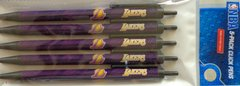 NBA Los Angeles Lakers 5 Pack Pens Black Ink Officially Licensed