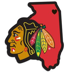 NHL Chicago Blackhawks Home State Repositionable Vinyl Decal Auto Car NEW!!!
