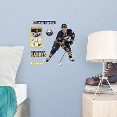 """Jack Eichel Buffalo Sabres Fathead Teammate NHL 11"""" X 15"""" 6 DECALS! Hockey"""
