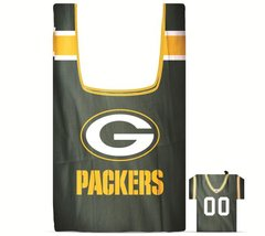 NFL GREEN BAY PACKERS Shopping Bag in a Pouch Reusable Football