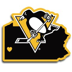 NHL Pittsburgh Penguins Home State Repositionable Vinyl Decal Auto Car NEW!!!