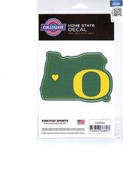 NCAA Oregon Ducks Home State Repositionable Vinyl Decal Auto Car NEW!!!