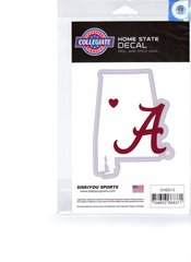 NCAA Alabama Crimson Tide Home State Repositionable Vinyl Decal Auto Car NEW!!!