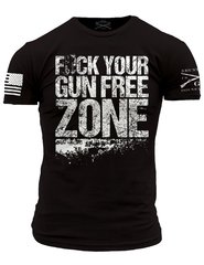 FCK YOUR GUN FREE ZONE Grunt Style T-Shirt USA Patriotic