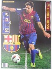"""LIONEL MESSI Fathead Teammate 13"""" X 16"""" 5 Decals FIFA Soccer Barcelona"""