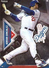 "2016 MLB ADRIAN GONZALEZ Los Angeles Dodgers Fathead Tradeable 5"" X 7"""