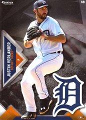 "2016 MLB JUSTIN VERLANDER Detroit Tigers Fathead Tradeable 5"" X 7"""