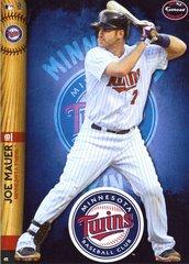 """2014 MLB Joe Mauer Minnesota Twins Fathead Tradeable 5"""" X 7"""""""