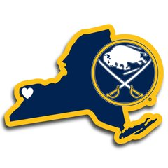 NHL Buffalo Sabres Home State Repositionable Vinyl Decal Auto Car NEW!!!
