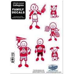 NCAA OHIO STATE BUCKEYES Family Decals Auto Car Vinyl Stickers NEW!