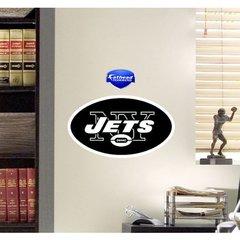 "New York Jets Fathead Teammate Logo NFL 14"" X 9"" Football"